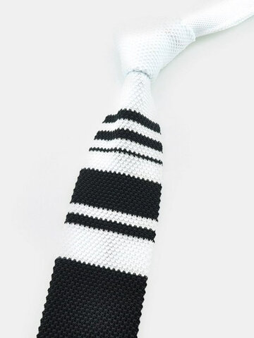 Fashion Men's Accessary Thin Stripe Plaids Slim Skinny Knitting Narrow Ties Casual Neckties