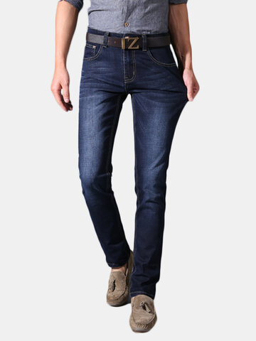 Mens Fashion Slim Stretch Straight Jeans