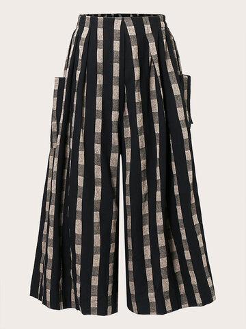 Casual Print Wide-Leg Pants