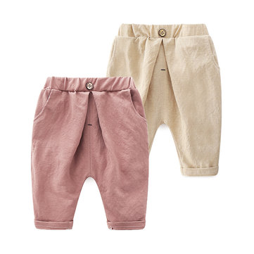Solid Color Boys Cotton Shorts For 2Y-9Y