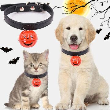 Halloween Ghost Festival Kürbisglocken Hundehalsbänder können Traktionskatzen Universal Pet Collars hängen