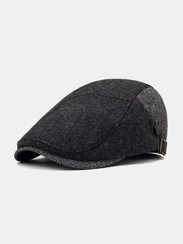 قبعة بيريه رجالية من القطن الربيعي
