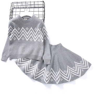 Girls Sweater Skirt Sets For 2Y-9Y