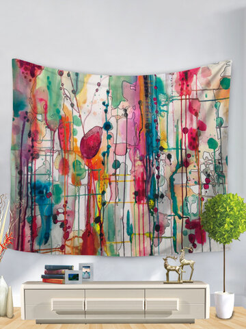 Watercolor Abstract Printing Wall Hanging Tapestries