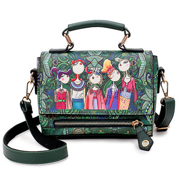 Women Bohemian Print Flower Crossbody Bags