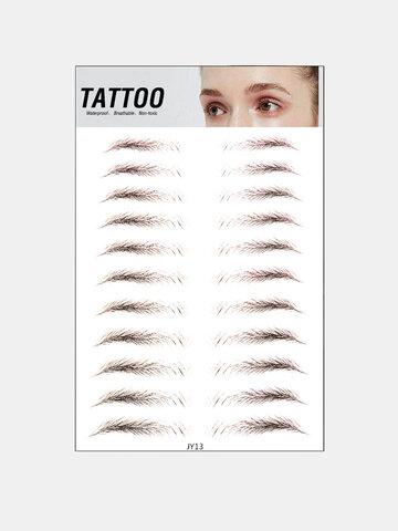3D Eyebrow Tattoo Sticker