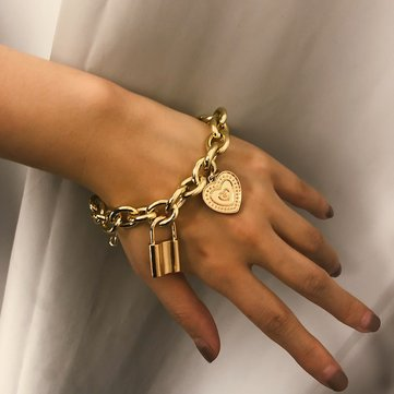 Trendy Lock Big Chain Armband
