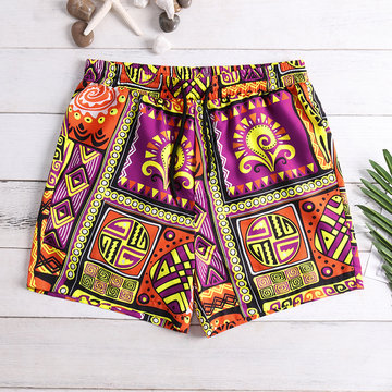 Mens Ethnic Style Beach Board Shorts