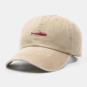 قبعة بيسبول بتطريز السمك للجنسين