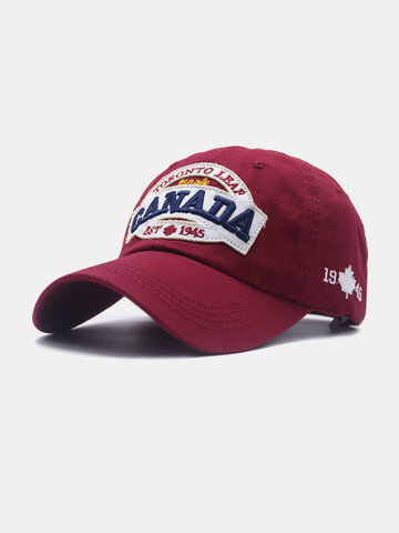 Unisex Letter Embroidery Patch Baseball Cap