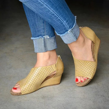 Recortes Slip On Wedges Sandals