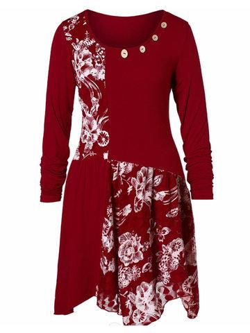 Lace Patchwork Midi Dress
