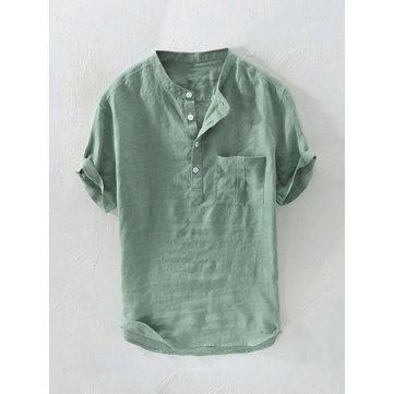 Chinese Style Breathable Buttons T Shirts