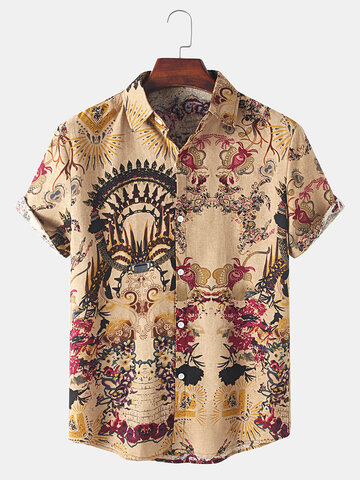 Cotton Tribal Pattern Vintage Shirt