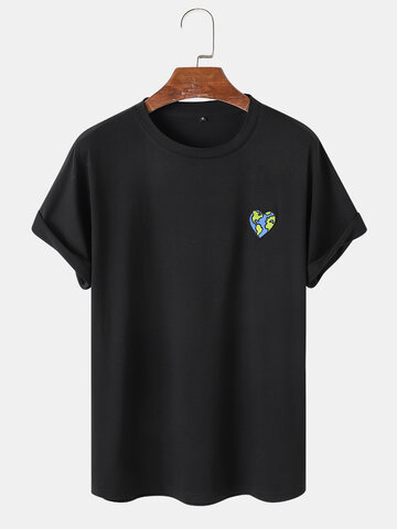 Earth Embroidery T-Shirt