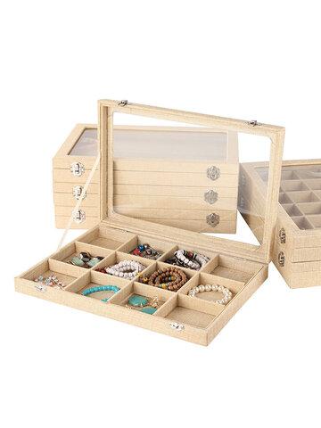Vintage Linen Wenwan Jade Jewelry Display Box