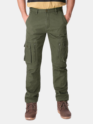 Mens Polar Fleece Lined Cargo Pants