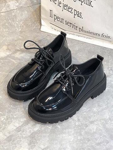 British Style Platform Casual Shoes