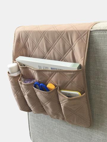 Anti Slip Sofa Chair Arm Rest 5 Pocket Organizer Couch Remote Control Storage Bag Magazine Sundries Storage Bags