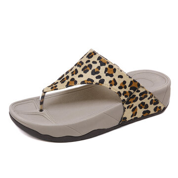 Leopard Snake Printed Clip Toe Sandals фото