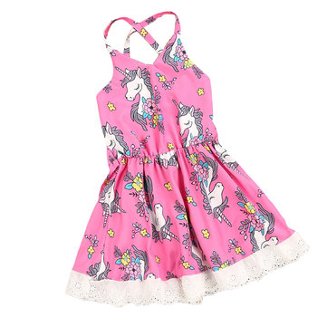 Animal Strap Baby Girls Summer Dress