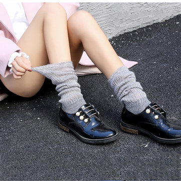 Women's Stockings Thickening Stripe Solid Socks
