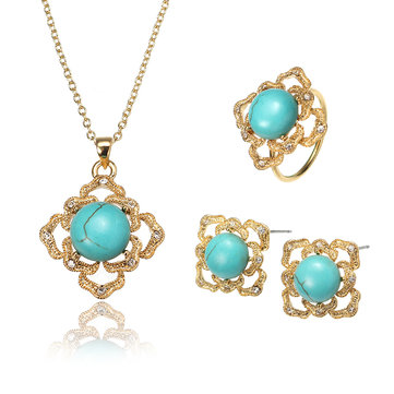 Set di gioielli JASSY® Luxury 18K Gold Turquoise