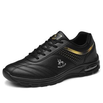 Men Non Slip Casual Leather Sneakers