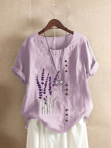 Lavender Embroidered T-shirt