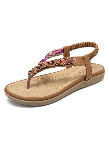 Knitting Slip On Beach Flat Sandals
