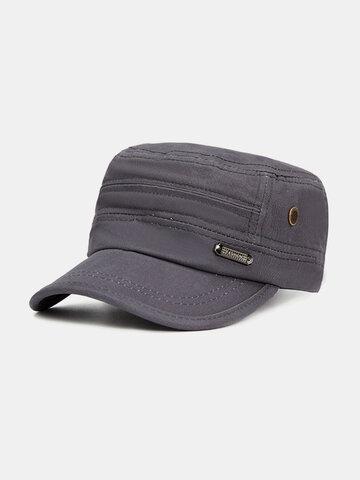 Men Women Vintage Cotton Flat Baseball Cap Ourdoot Sport Adjustable Hats