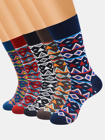 Men's Classical Colorful Combed Cotton Business Socks