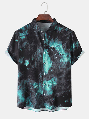 Ombre Turn-Down Collar Shirts