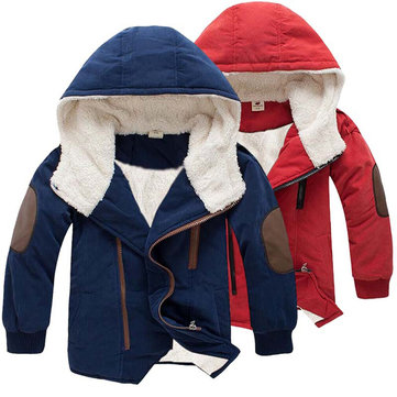 Soft Fleece Boys Thick Coat For 4Y-15Y