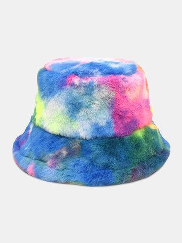 Unisex Colorful Tie-dye Bucket Hat