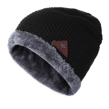 Men Warm Winter Knit Beanies Hat, Khaki black grey wine red navy