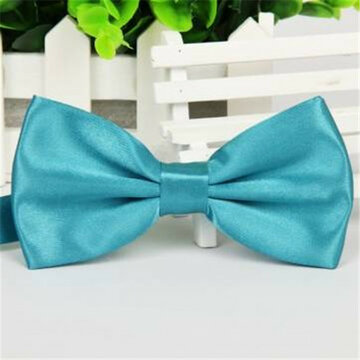 Men Solid Color Polyester Filament Light Bow Tie
