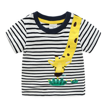 Animal Boys - Gestreiftes T-Shirt 1Y-9Y
