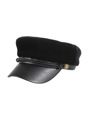 قبعة بيريه بتصميم فرنسي مخملي