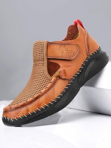 Sandales en cuir trouées pour hommes