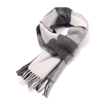 Classical Plaid Wool Scarf For Men