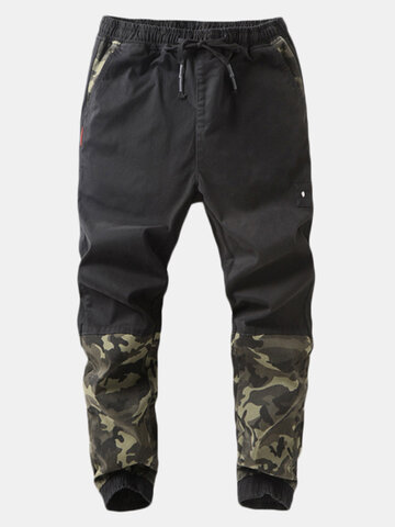 Men's Camouflage Patchwork Jogger Pants