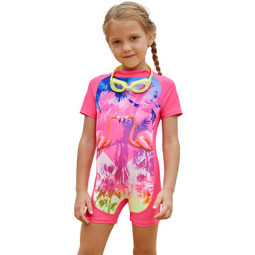 Flamingo Girl Swimsuit For 2-15Y