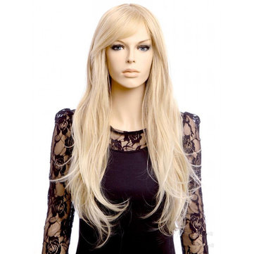 Gold Long Micro-volume Wig, Picture color delivery network