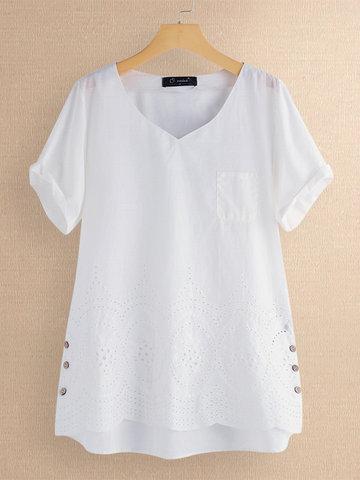 Лоскутная полая нерегулярная блузка