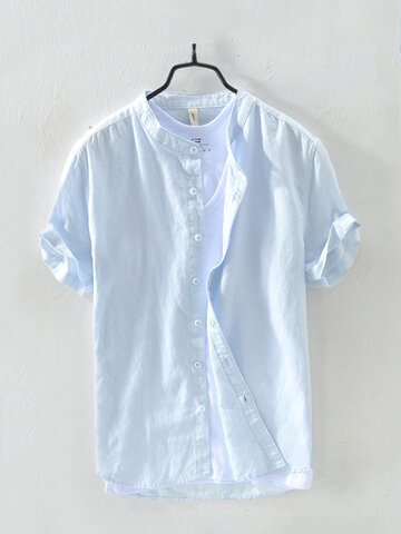 Short Sleeve Breathable Cotton Shirts