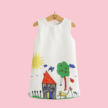 Lovely Girls Casual Dress For 2Y-8Y