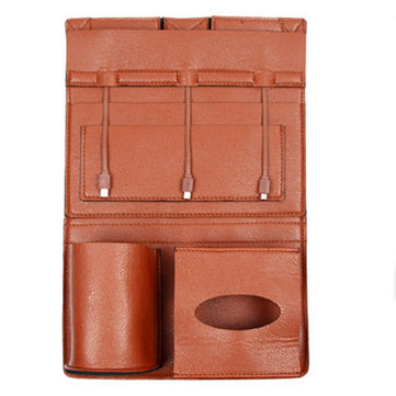 Leather Chargable Car Storage Bag фото