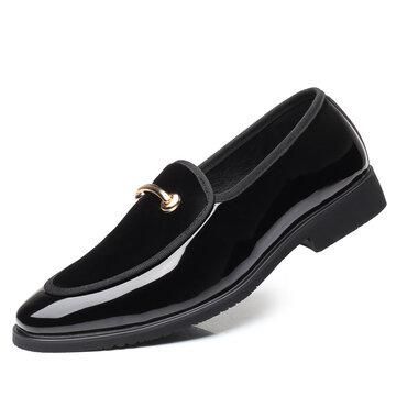 Large Size Men Leather Splicing Dress Shoes
