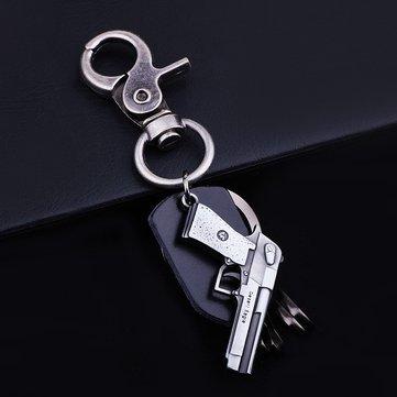 Chaveiro na moda da forma da arma